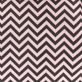Simili cuir Zigzag - rose noir x 10cm