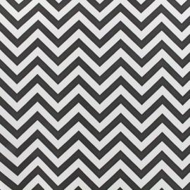 Imitation leather Zigzag - white black x 10cm