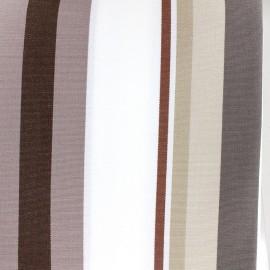 Tissu toile Plein Air Mentoue (320cm) - chocolat x 10cm