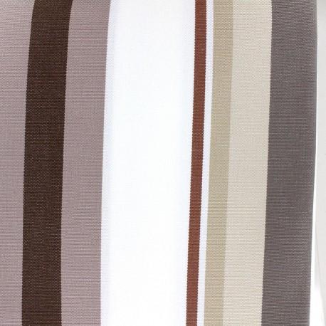 Tissu toile Plein Air Mentoue 320cm - chocolat x 10cm
