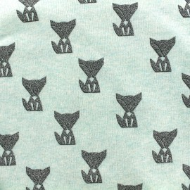 Poppy jersey fabric Fox - seagreen x 10cm