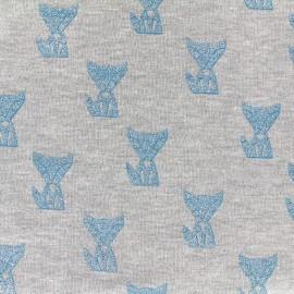 Poppy jersey fabric Fox - grey x 10cm