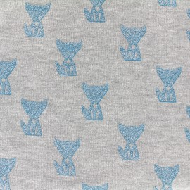 Tissu sweat léger Poppy Fox glitter - gris x 10cm