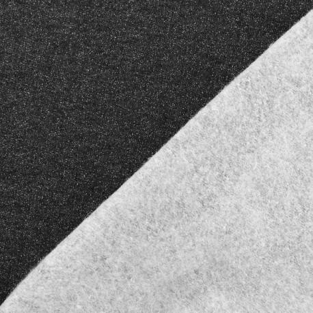 Tissu sweat léger Molletonné Pailleté - noir x 10cm