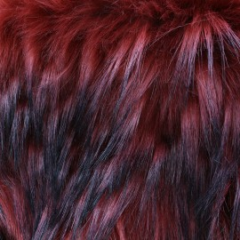 Fourrure haute qualité Novare - rouge x 10cm