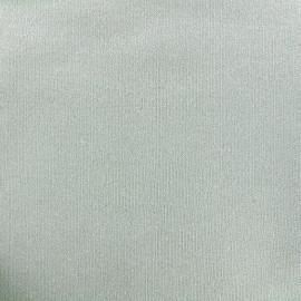 Tissu sweat léger Molletonné Pailleté - vert d'eau x 10cm