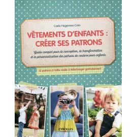 """Livre """"Vêtements d'enfants créer ses patrons"""""""