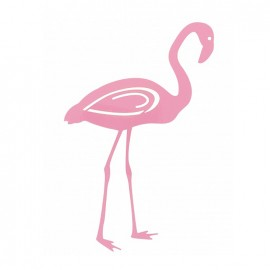 Transfert textile thermocollant - flamant rose