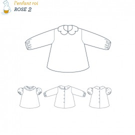 Rose Blouse L'Enfant Roi sewing pattern - From 2 to 10 years old