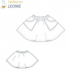 Léonie Skirt L'Enfant Roi sewing pattern - From 2 to 14 years old