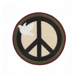 Thermocollant brodé Army - peace and love