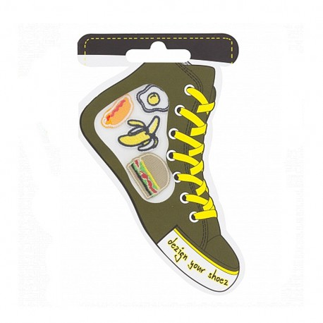 Iron-on patch for shoes - food