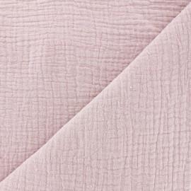 Tissu double gaze de coton MPM - vieux rose x 10cm