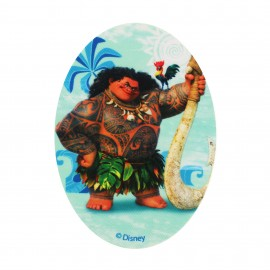 Canvas iron-on oval-shaped patch  Vaiana - D
