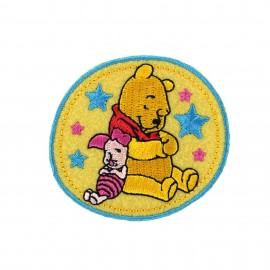 Embroidered Iron on patch Winnie the Pooh - D