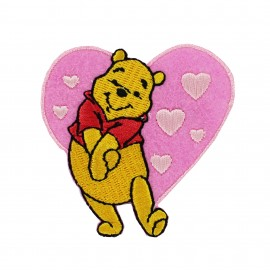 Embroidered Iron on patch Winnie the Pooh - F