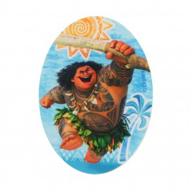 Canvas iron-on oval-shaped patch  Vaiana - G