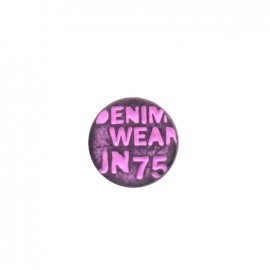 Denim color jeans button - fuchsia