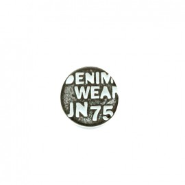 Denim color jeans button - black/white