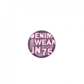 Denim color jeans button - pale pink