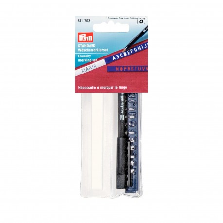 Laundry marking set Prym 3m - black