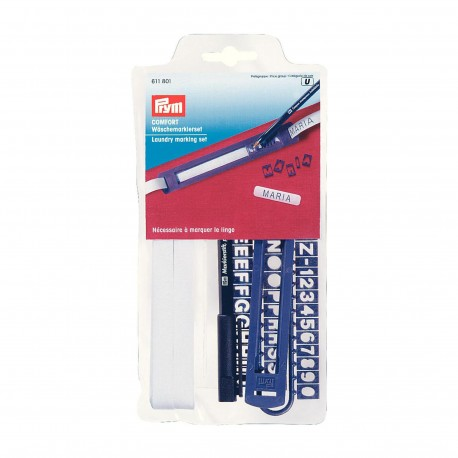 Laundry marking set Prym 6m - black