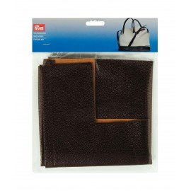 Faux leather bag bottom Prym Eve - dark brown