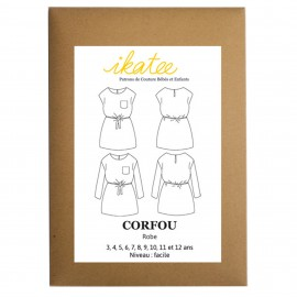 Sewing pattern Ikatee Corfou Dress : from 3 to 12 years old