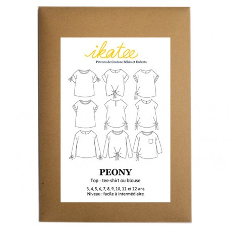 Sewing pattern Ikatee Peony Top : from 3 to 12 years old