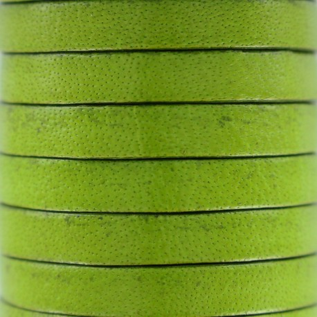 5 mm Flat Leather Strip - Olive