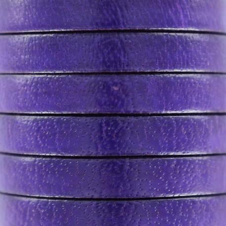 5 mm Flat Leather Strip - Purple