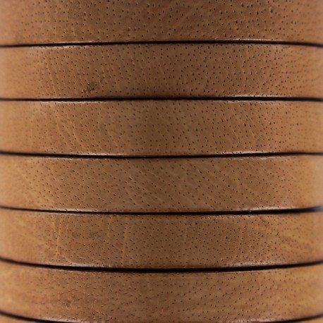 5 mm Flat Leather Strip - Light Brown