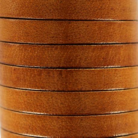 5 mm Flat Leather Strip - Dark Brown