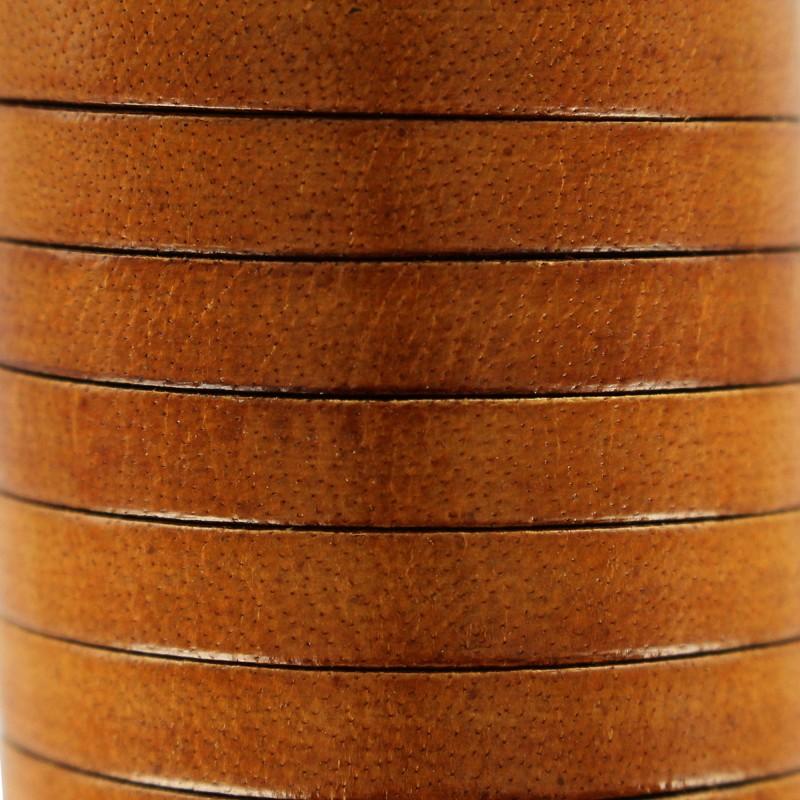 d931a2a1ac93 Lacet plat marron foncé en cuir 5 mm - Ma Petite Mercerie