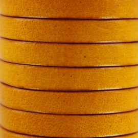 5 mm Flat Leather Strip - Yellow