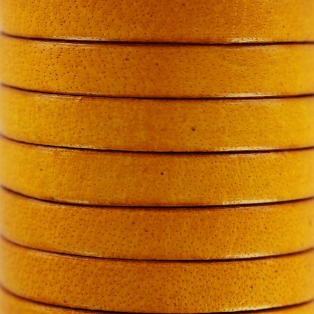 5 mm Flat Leather Strip - Camel
