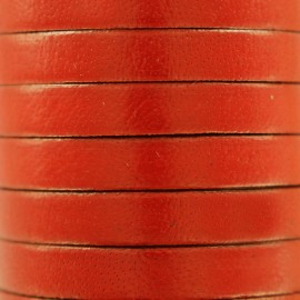 5 mm Flat Leather Strip - Orange