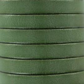 Cordon Lacet plat en cuir  5 mm - Avocat x1m