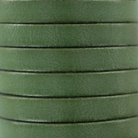5 mm Flat Leather Strip - Avocat