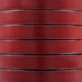 5 mm Flat Leather Strip - Red
