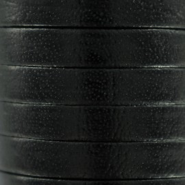 5 mm Flat Leather Strip - Black