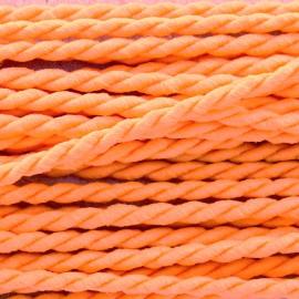 Vivo 4mm twisted cord - neon orange x 1m