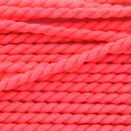 Cordon torsadé Vivo 2mm - rose fluo x 1m
