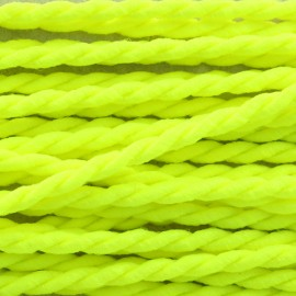 Vivo 2mm twisted cord - neon yellow x 1m