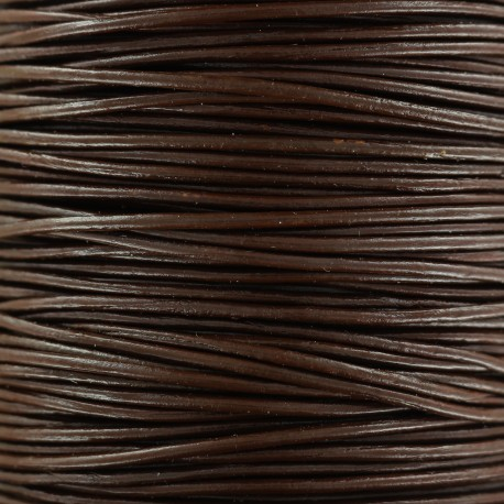 1 mm Rond Leather Strip - Dark Brown