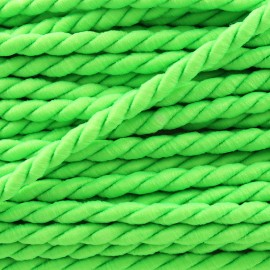 Vivo 2mm twisted cord - neon green x 1m