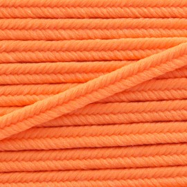 Lacet tressé Vivo 2mm - orange fluo x 1m