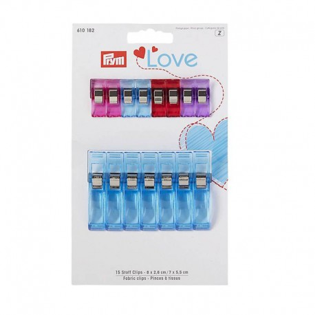 Set of 15 fabric clips Prym Love