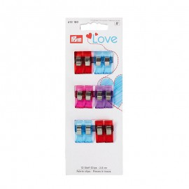 Lot de 12 pinces à tissus Prym Love