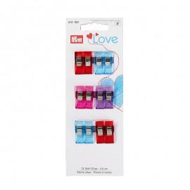Set of 12 fabric clips Prym Love